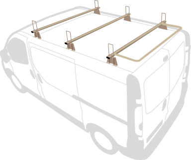 Large van 3 Bar with door guard